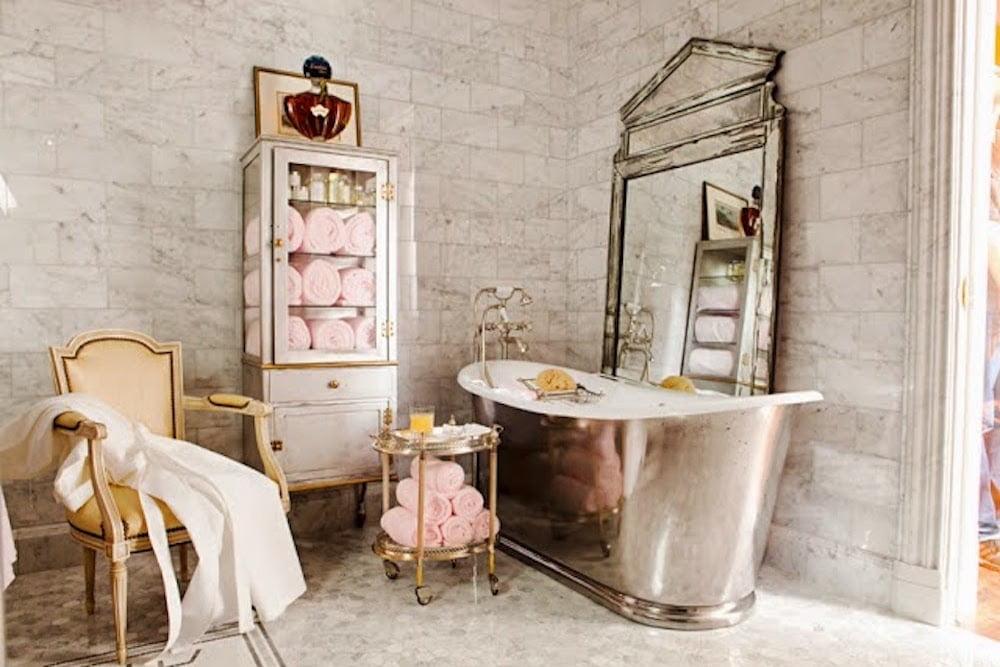 decoracion de baños estilo vintage