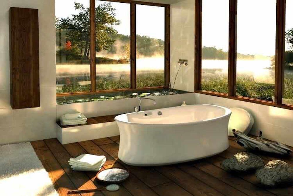 decoracion oriental baño