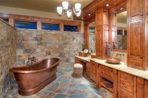 diseños de baños rusticos