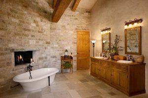 estilos de baños rusticos
