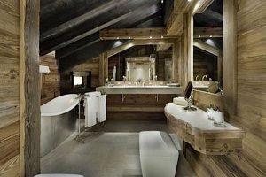 ideas de baños rusticos