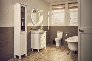 ideas para baños vintage