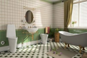 ideas para decorar baños vintage