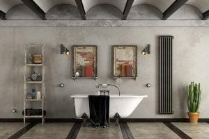 iluminacion baño estilo industrial