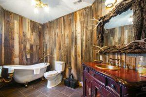imagenes de baños rusticos