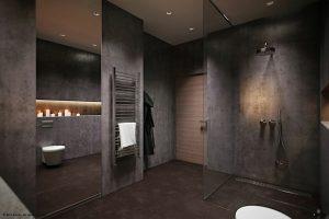 baño de lujo moderno