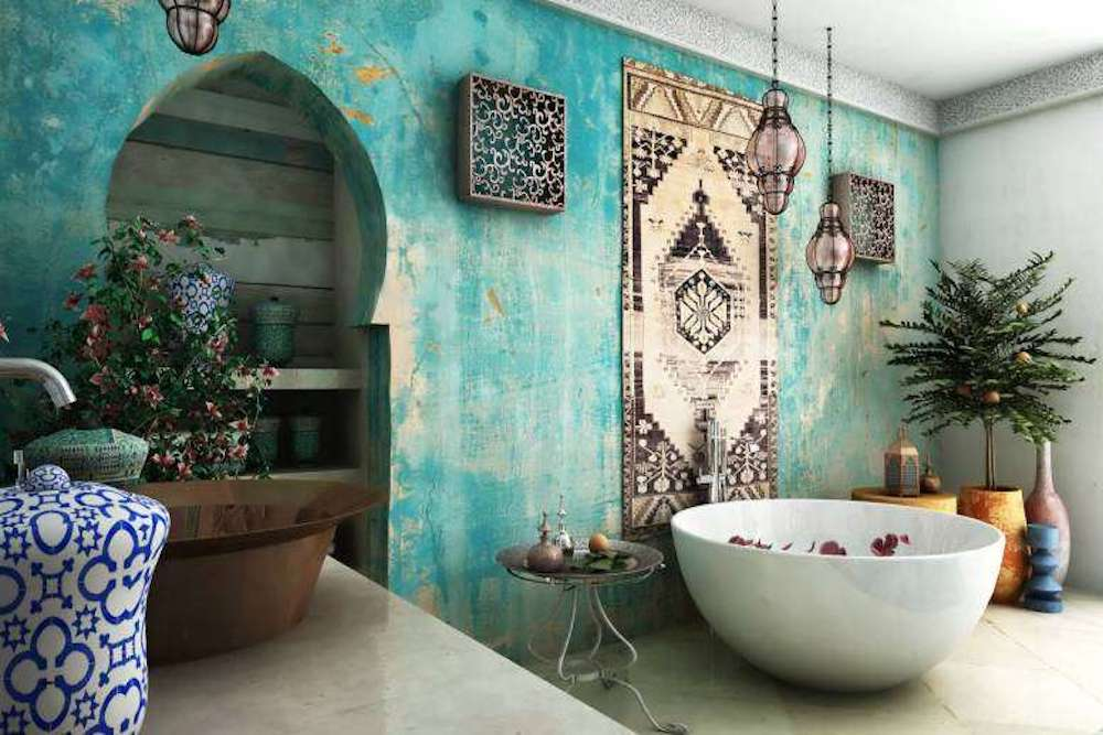 baño estilo arabe