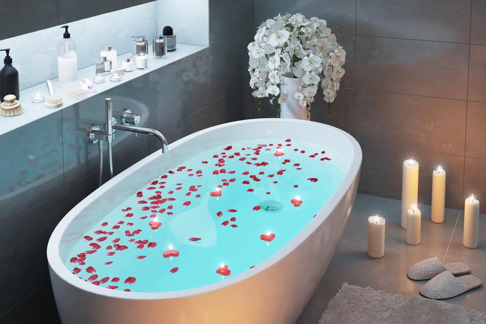 baño estilo romantico