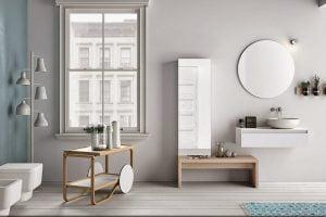 baño nordico suelo madera