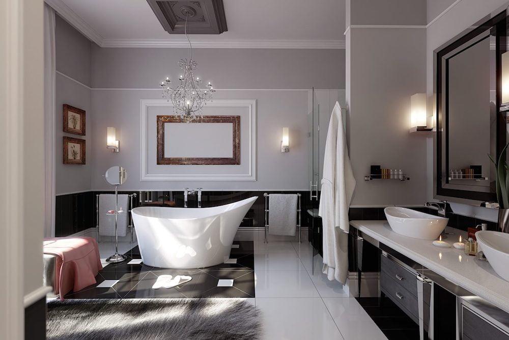 baño romantico con velas