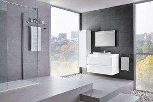 baños minimalistas blancos