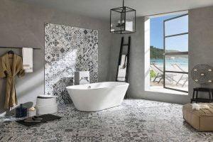 decoracion baño eclectico