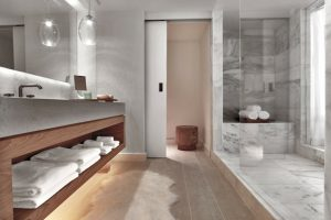 decoracion de baño minimalista
