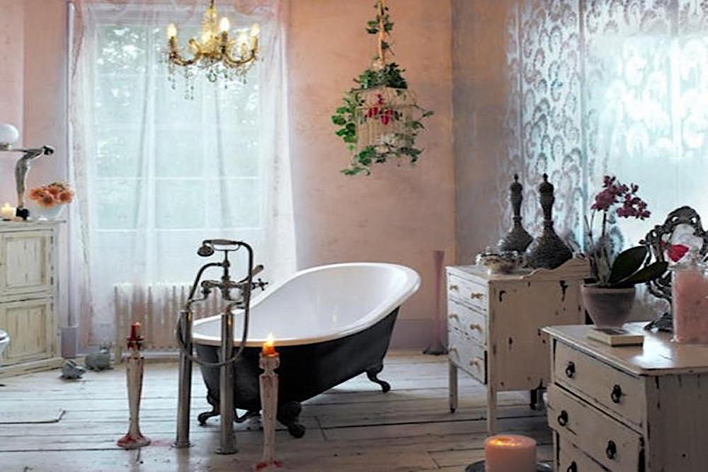 decoracion de baños bohemio