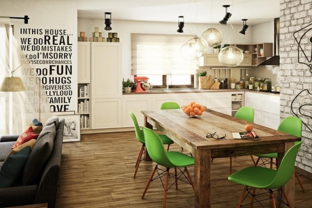 decorar las paredes de tu cocina