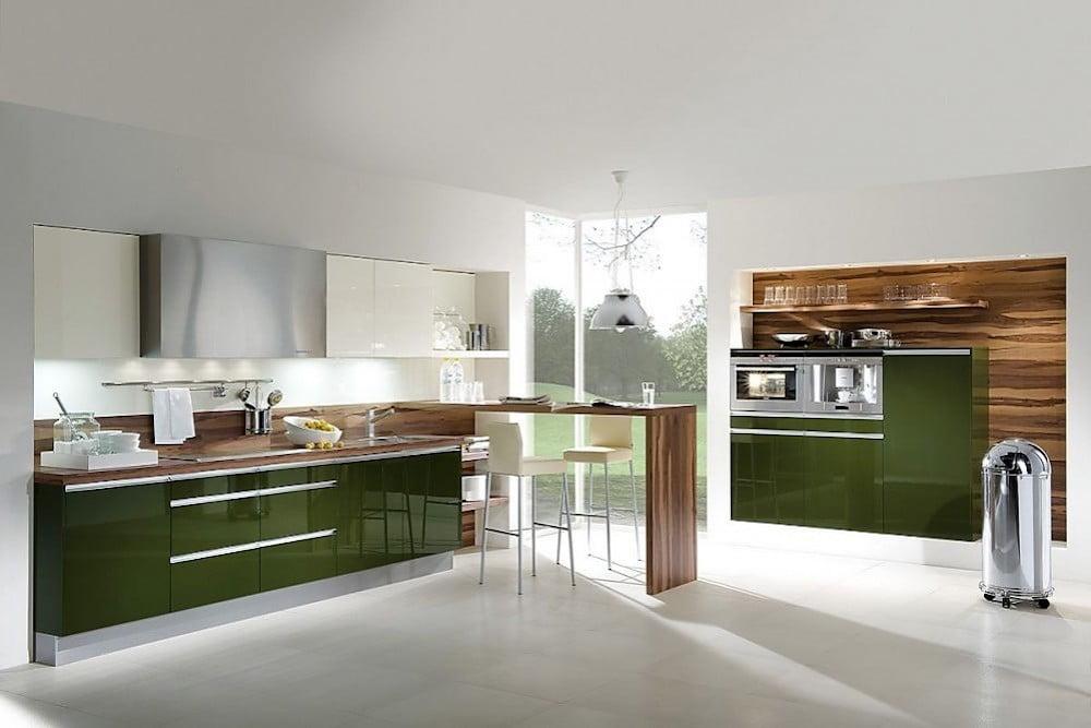 idea cocina verde oliva