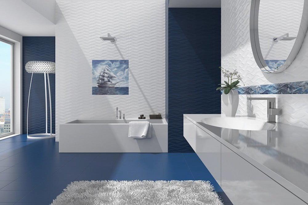 ideas para alicatar el baño hasta la mitad