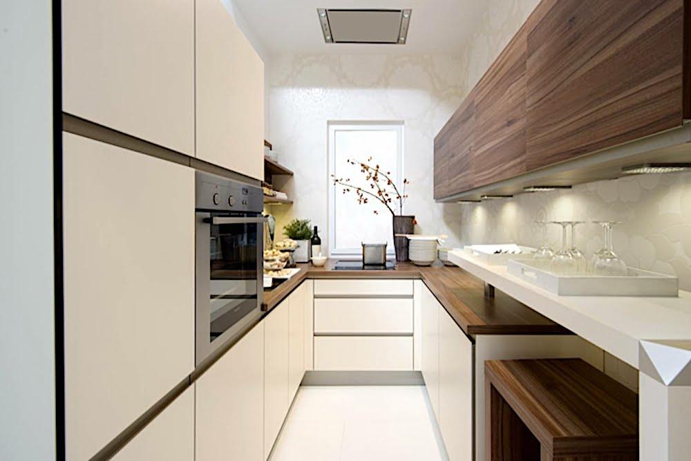 ideas para decorar cocinas alargadas y estrechas