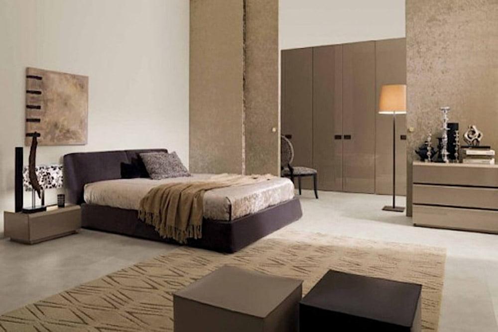 ideas para usar el color marrón chocolate y beige .en el dormitorio