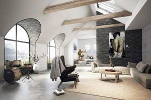 ideas para usar la piedra en tu salón