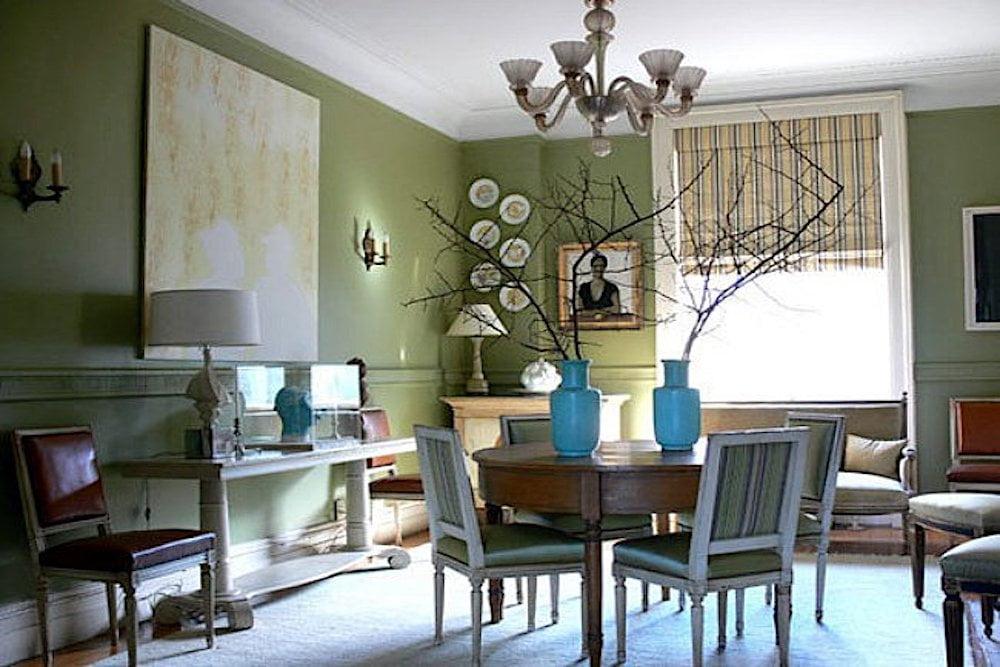 ideas salon verde oliva