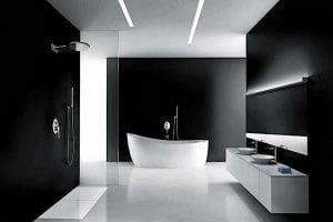 iluminacion baño minimalista