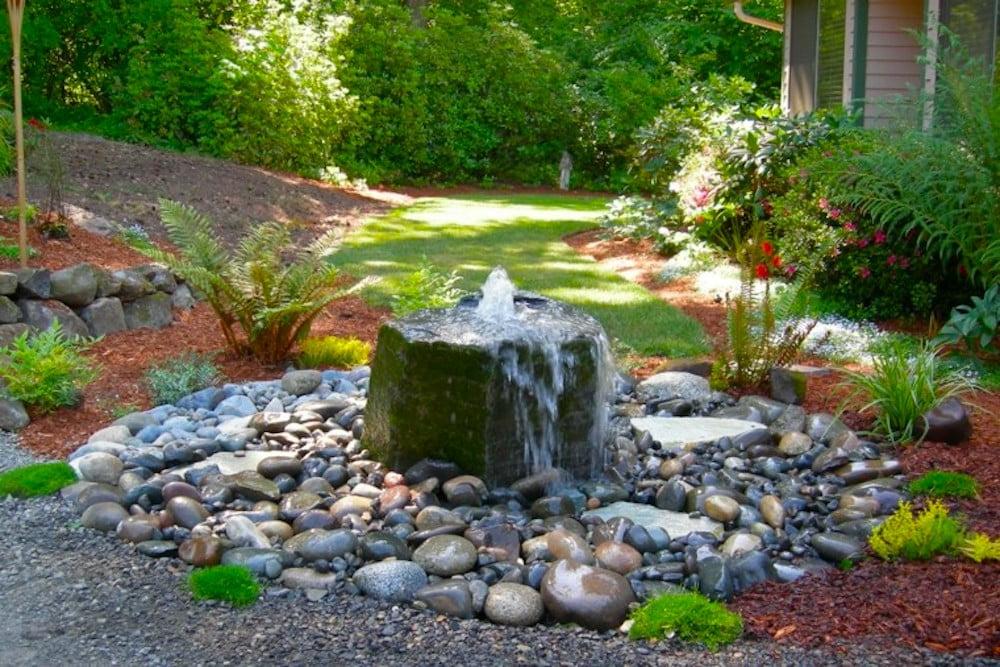 jardin con rocalla
