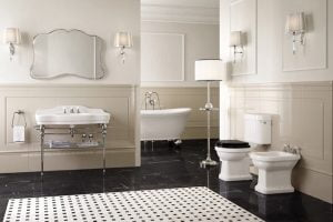 mueble baño clasico blanco