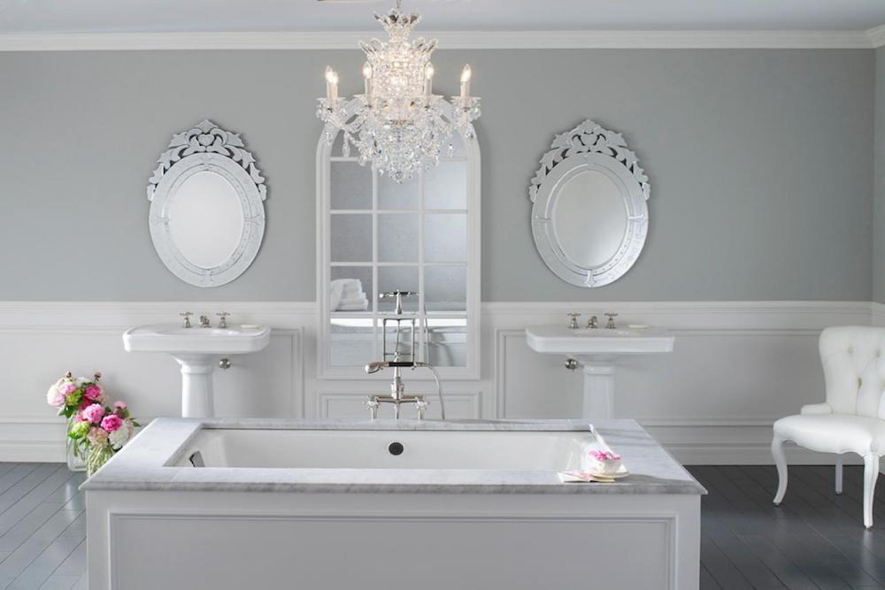 muebles de baño estilo romantico