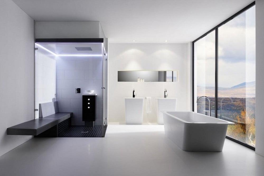 reformar un baño grande con bañera y ducha