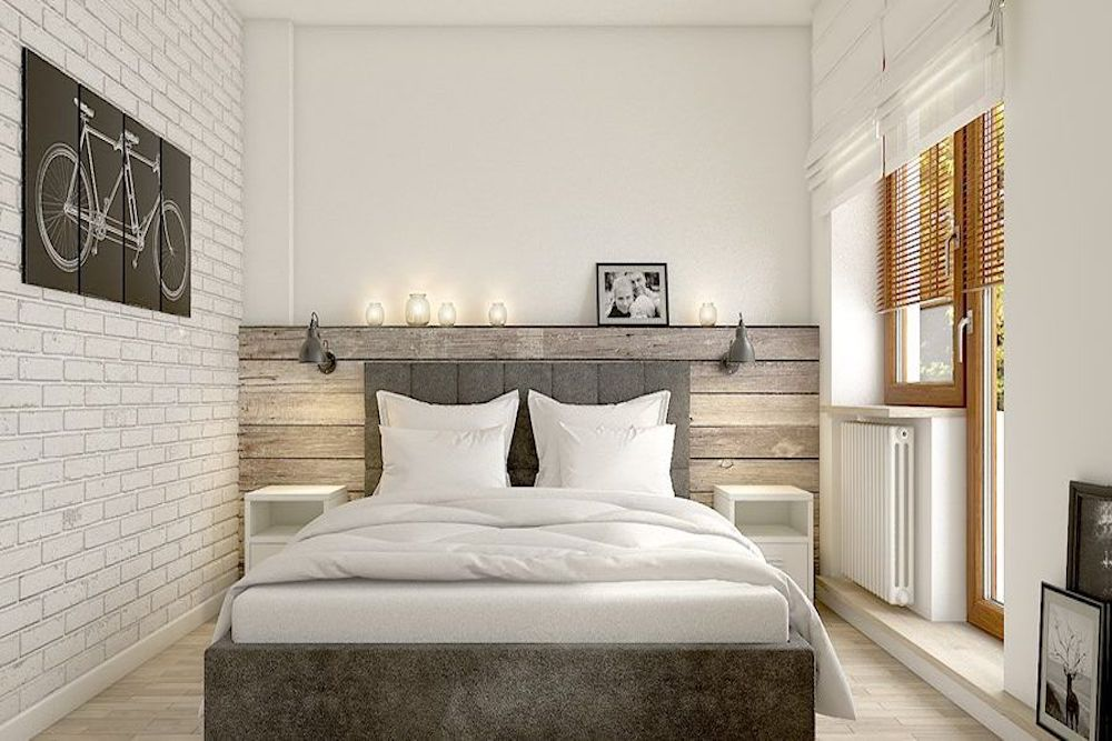 Dormitorio de matrimonio pequeño