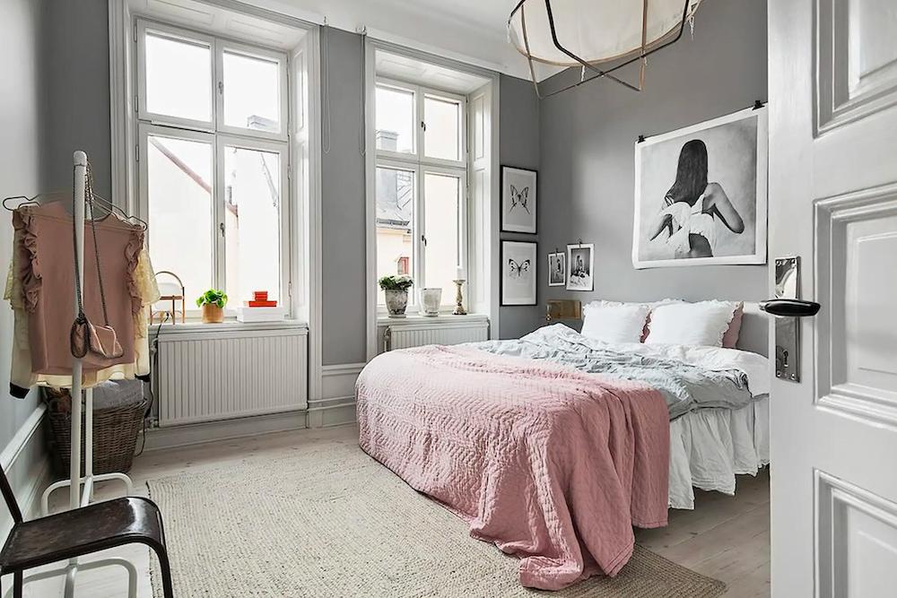 Pintar dormitorios en gris perla.