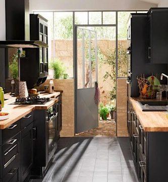 cocinas estrechas rectangulares