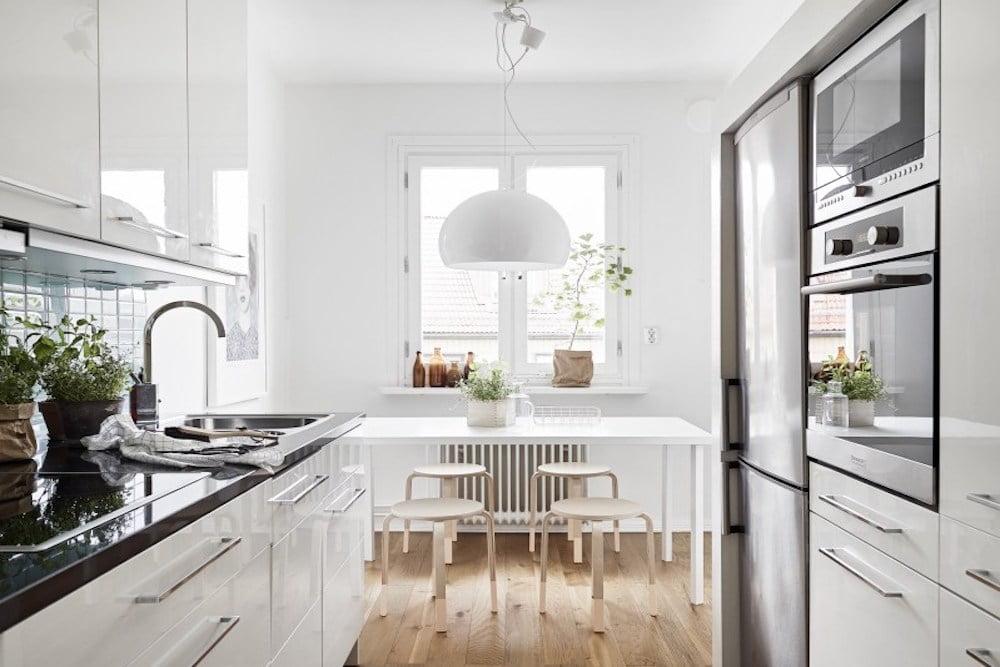 cocinas rectangulares estrechas