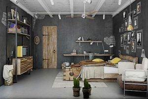 como decorar un dormitorio estilo industrial