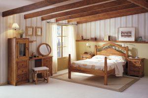 de que color pintar un dormitorio rustico