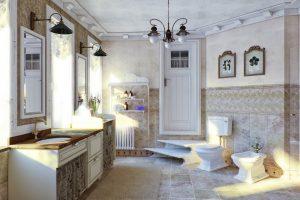 decoracion de baños estilo shabby chic