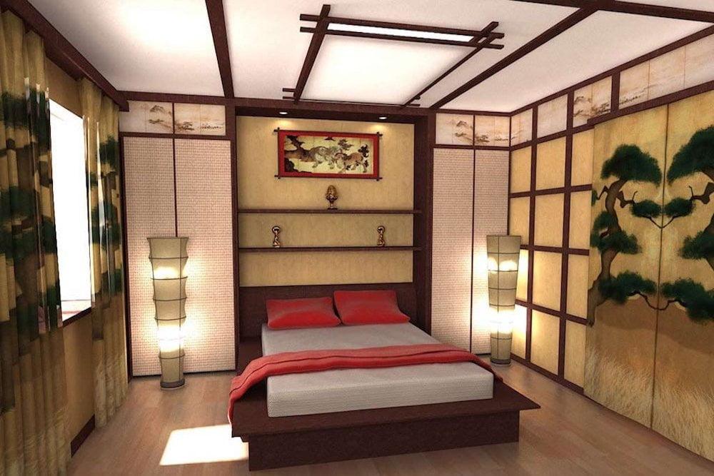 decoracion dormitorio oriental.