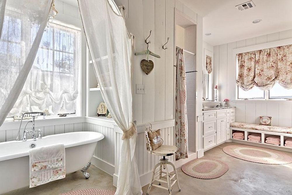 decoracion shabby chic para baños