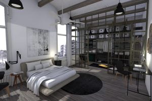decorar dormitorio estilo industrial