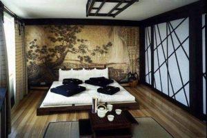 dormitorio con diseño oriental