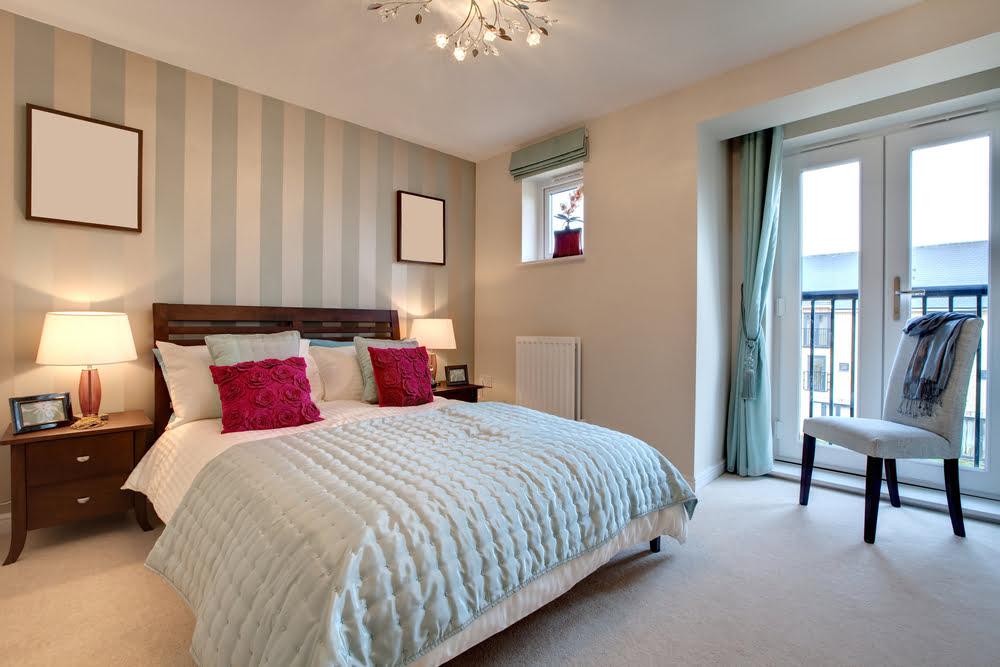 dormitorio estilo vintage.