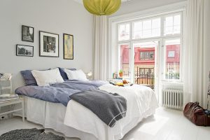 dormitorio matrimonio pequeño nordico