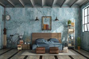 dormitorio tipo industrial