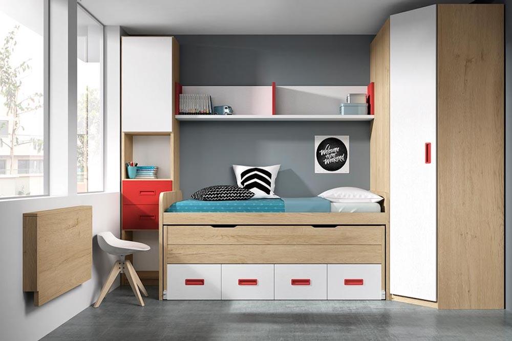 dormitorios infantiles combinados