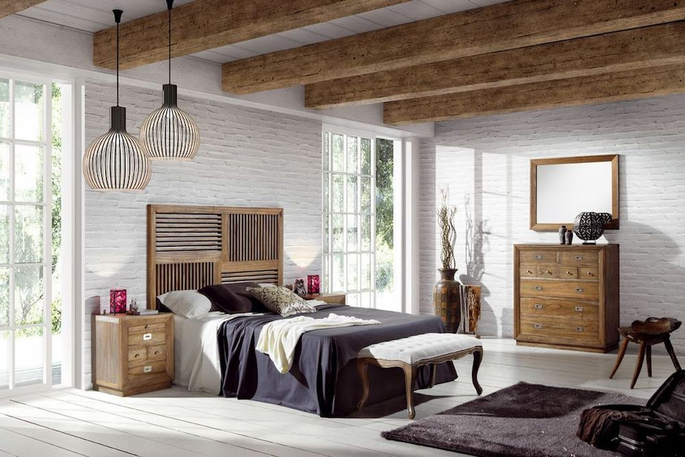 dormitorios matrimoniales rusticos