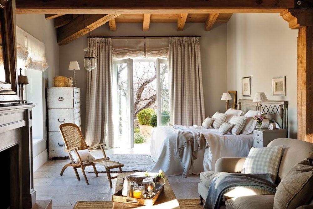 dormitorios rusticos en blanco
