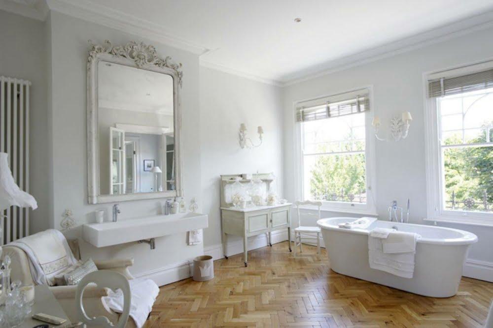 imagenes de baños shabby chic
