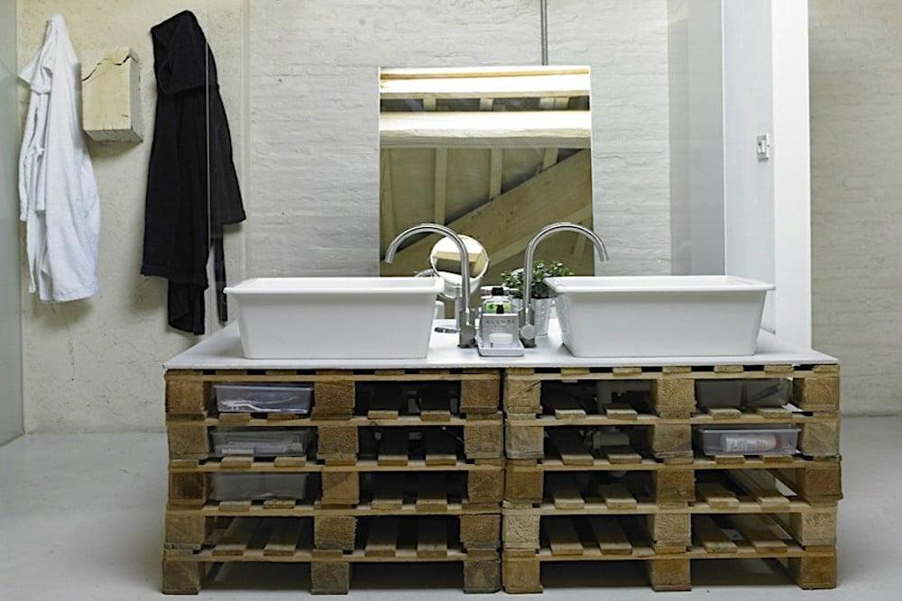 muebles con palets para el baño