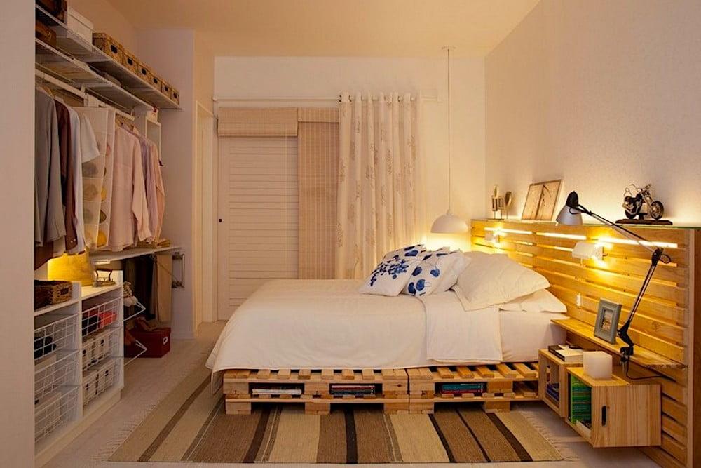 muebles con palets para el dormitorio